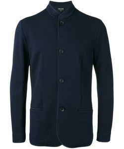 Giorgio Armani | Jacquard Knit Mandarin Collar Jacket 54