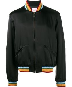 PALM ANGELS | Rainbow Bomber Jacket 50 Acetate/Viscose/Glass
