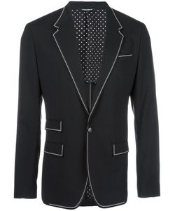 Dolce & Gabbana | Piped Blazer 52 Virgin Wool/Spandex/Elastane/Silk