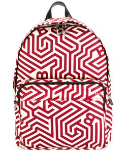 Bally | Geometric Print Backpack Nylon/Leather