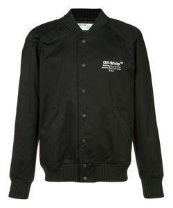 OFF-WHITE | Chest Logo Bomber Jacket Medium Cotton