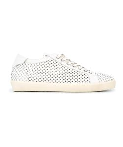 Leather Crown | Laser-Cut Trainers Size 43