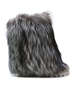 Casadei | Racoon Fur-Trimmed Chaucer Boots Women Nappa Leather/Racoon