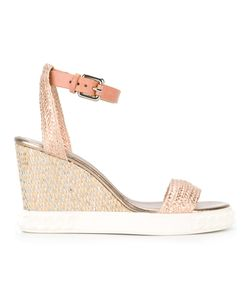 Casadei | Woven Wedged Sandals