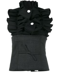 JACQUEMUS | Button Ruched Corset Top Women