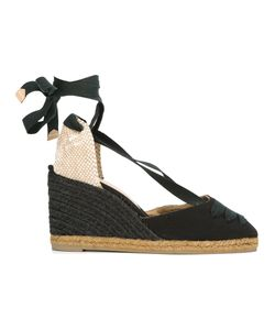 Castañer | Tie Ankle Wedge Espadrilles