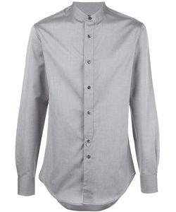 Emporio Armani   Band Collar Shirt 40 Cotton