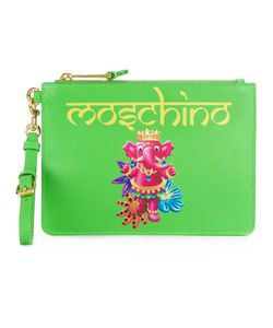 Moschino | Elephant Print Clutch Calf Leather/Polyester