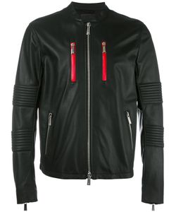 MARCELO BURLON COUNTY OF MILAN | Banded Collar Leather Jacket