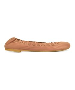 See By Chloe | See By Chloé Scalloped Ballerina Shoes 36.5 Leather/Rubber
