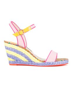 Sophia Webster   Buckled Wedge Sandals 39 Calf Leather/Canvas