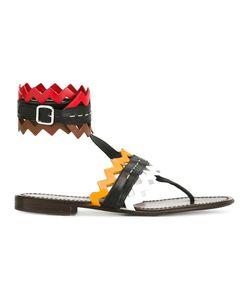 PRADA VINTAGE | Geometric Sandals 37.5