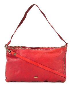 Campomaggi | Studded Trim Shoulder Bag Leather