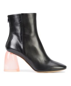 Ellery | Clear Chunky Heel Boots 39 Leather/Acrylic