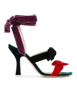 ATTICO | Diletta Velvet Bow Sandals Size 41