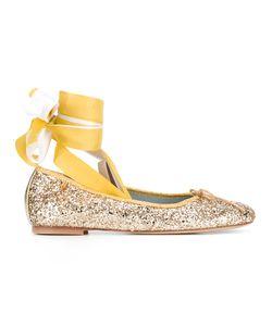 Chiara Ferragni | Lace-Up Ballerinas 37 Leather Fibre/Pvc