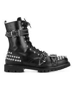 Christian Pellizzari | Studded Lace-Up Boots Men
