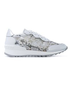 Casadei | Sequin Embroidery Lace-Up Sneakers