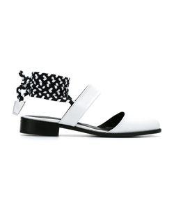 Manolita | Leather Tie-Up Shoes