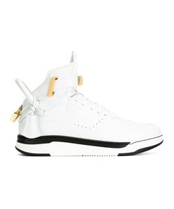 Buscemi   Lock Detail Hi-Tops 10 Calf Leather/Rubber/Leather