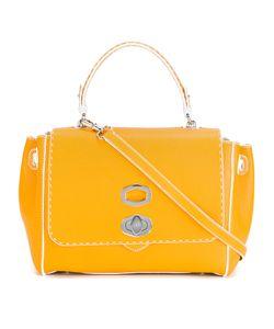 Ermanno Scervino   Twist-Front Shoulder Bag Leather