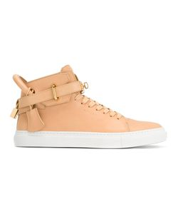 Buscemi   Buckled Hi-Top Sneakers 44 Calf Leather/Leather/Rubber