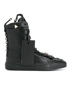 K1x X Patrick Mohr | Embossed Hi-Tops 42.5 Leather/Rubber/Metal