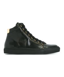 Balmain | Lace-Up Hi-Top Sneakers 42 Calf Leather/Leather/Rubber