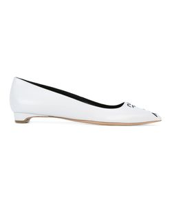 Rupert Sanderson | Pointed Toe Ballerinas 38.5 Leather/Lamb Skin