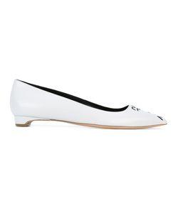 Rupert Sanderson | Pointed Toe Ballerinas 38.5 Leather/Lamb Skin