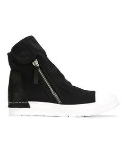 Cinzia Araia | Zipped Hi-Top Sneakers 41 Leather/Cotton/Leather