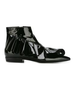 J.W. Anderson | J.W.Anderson Ruffle Ankle Booties 38 Patent Leather/Leather