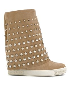 Casadei | Crystal-Embellished Chaucer Boots Women
