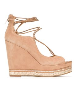 Sam Edelman | Harriet Lace-Up Wedges 36.5 Leather/Rubber