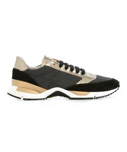 Brunello Cucinelli | Panelled Sneakers 35 Leather/Suede/Cotton/Brass