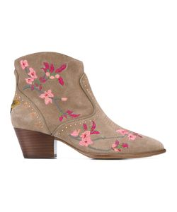 Ash | Embroidered Ankle Boots