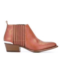 Buttero | Metal Detail Ankle Boots 37 Calf Leather/Leather