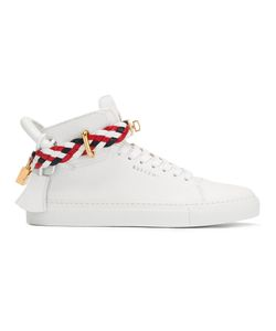 Buscemi | Braided Strap Sneakers 37 Calf Leather/Leather/Rubber
