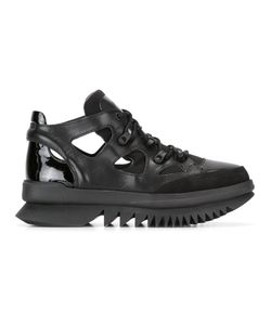 Camper | Lace Up Boots 41 Leather/Patent Leather/Polyester/Rubber