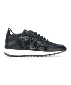 Casadei | Sequinned Lace-Up Sneakers