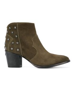 Zadig & Voltaire   Joe Stars Boots Size 39 Leather/Metal