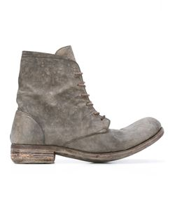 A DICIANNOVEVENTITRE | Distressed Lace-Up Boots 43 Horse Leather/Leather
