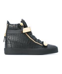 Giuseppe Zanotti Design | Hi-Top Sneakers 40.5 Leather/Rubber