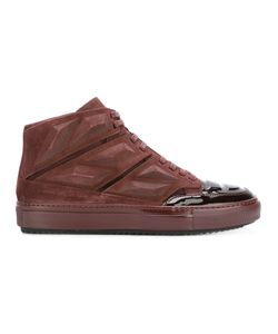Alejandro Ingelmo | Panelled Hi-Tops 44 Calf Suede/Lacquer/Leather/Rubber