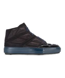 Alejandro Ingelmo | Panelled Hi-Tops 42 Calf Suede/Patent Leather/Leather/Rubber