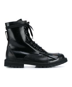 Dries Van Noten | Fringed Combat Boots