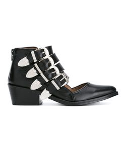 Toga Pulla | Buckle Strap Cut Out Ankle Boots Size 38