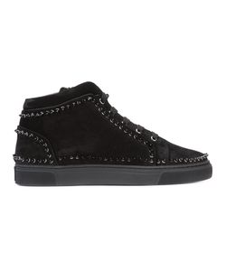 Louis Leeman | Studded Hi-Top Sneakers Size 45 Calf Leather/Calf