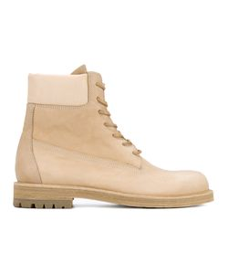 HENDER SCHEME | Industrial Lace-Up Boots 44.5 Leather/Pig Leather/Rubber
