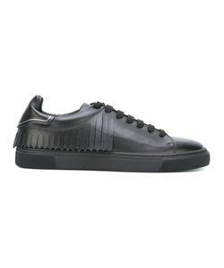 Louis Leeman | Fringed Detail Sneakers 43.5 Leather/Rubber